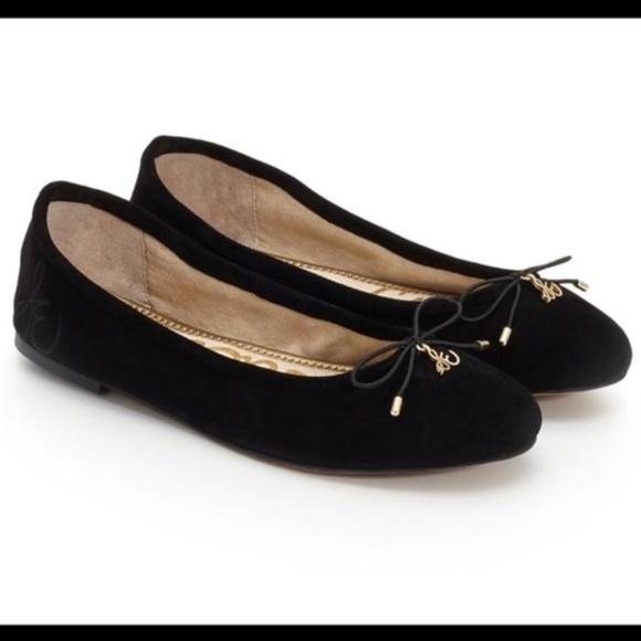 d85ae1969f8b Sam Edelman Black Suede Felicia Ballet Flats 7.5M.  M 5b87fafcdf03076bda1c2c95